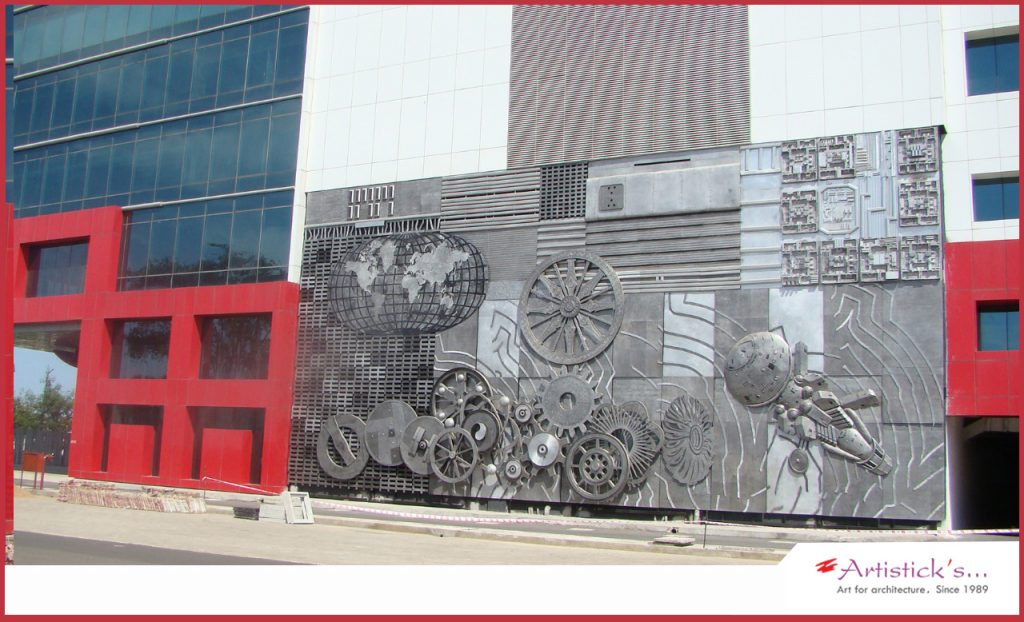SRm gateway chennai Perungalathur large wall mural by Artisticks